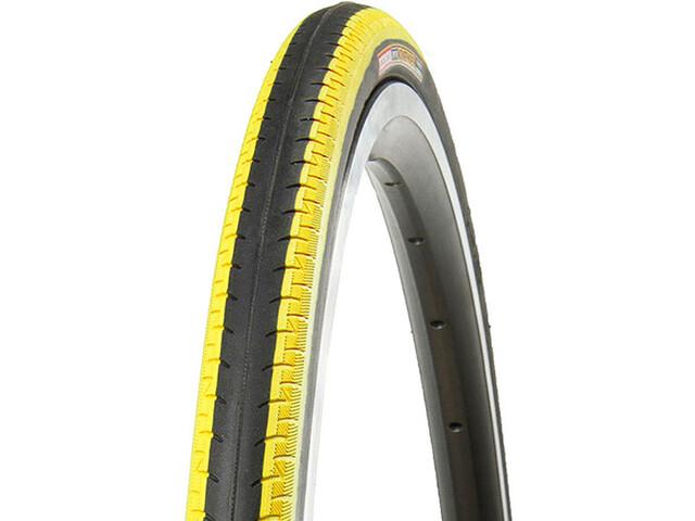"""Kenda Kontender K-196 Clincher Tyre 28"""", zwart/geel"""